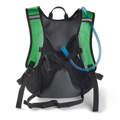 Ultimate Performance Grafham 2.0l Hydration Backpack -Black-Green-Back