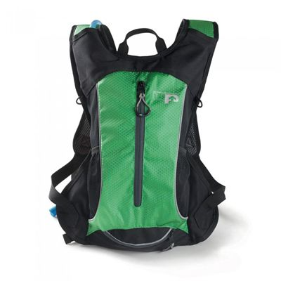 Ultimate Performance Grafham 2.0l Hydration Backpack -Black-Green-Front-Additional
