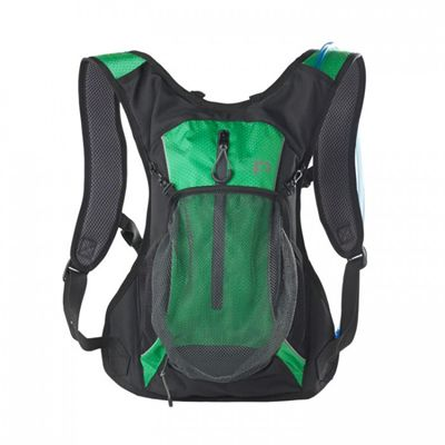 Ultimate Performance Grafham 2.0l Hydration Backpack -Black-Green-Front