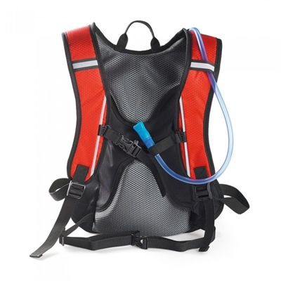Ultimate Performance Grafham 2.0l Hydration Backpack -Grey-Red-Back