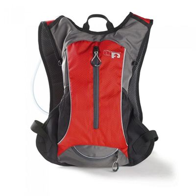 Ultimate Performance Grafham 2.0l Hydration Backpack -Grey-Red-Front-Additional
