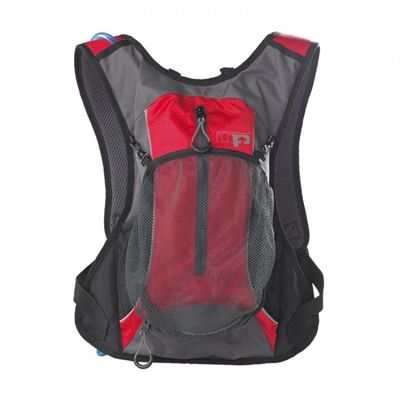 Ultimate Performance Grafham 2.0l Hydration Backpack -Grey-Red-Front