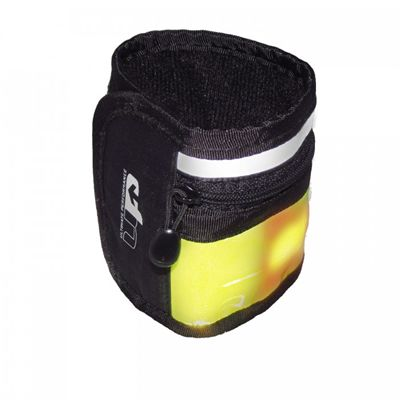 Ultimate Performance LED High-Visibility Running Wristband-Black-Yellow