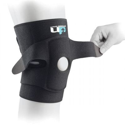 Ultimate Performance Ultimate Adjustable Knee Support with Straps-In Use