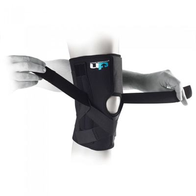 Ultimate Performance Wraparound Knee Brace with Springs-In Use Image
