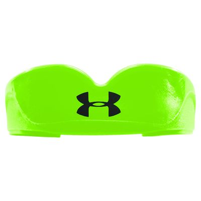 UA ArmourFit Mouthguard Strapless Youth-Green-Front View