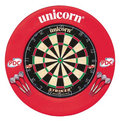 Unicorn Striker Dartboard and Surround Home Darts Centre