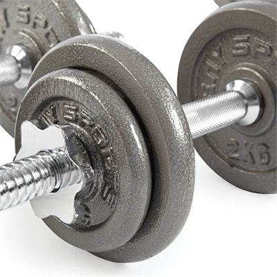 V-Fit Herculean Deluxe 50kg Cast Iron Weight Set - Dumbbels