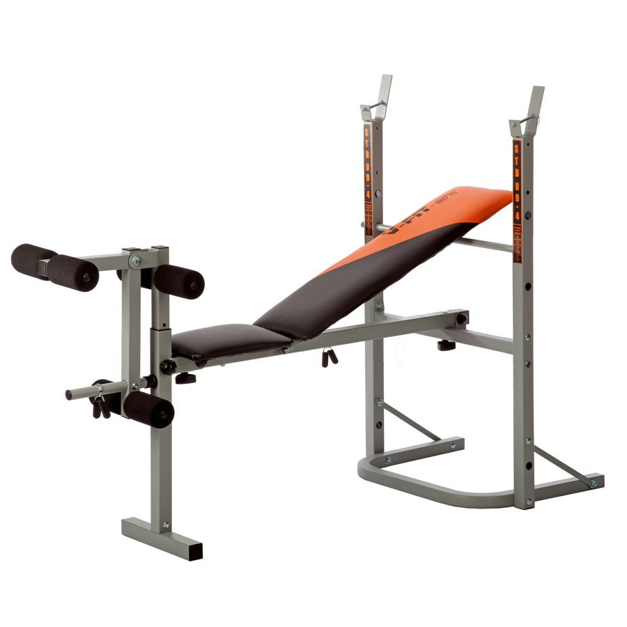 V fit stb09 1 folding weight bench with 50kg cast iron weight set Weight set and bench