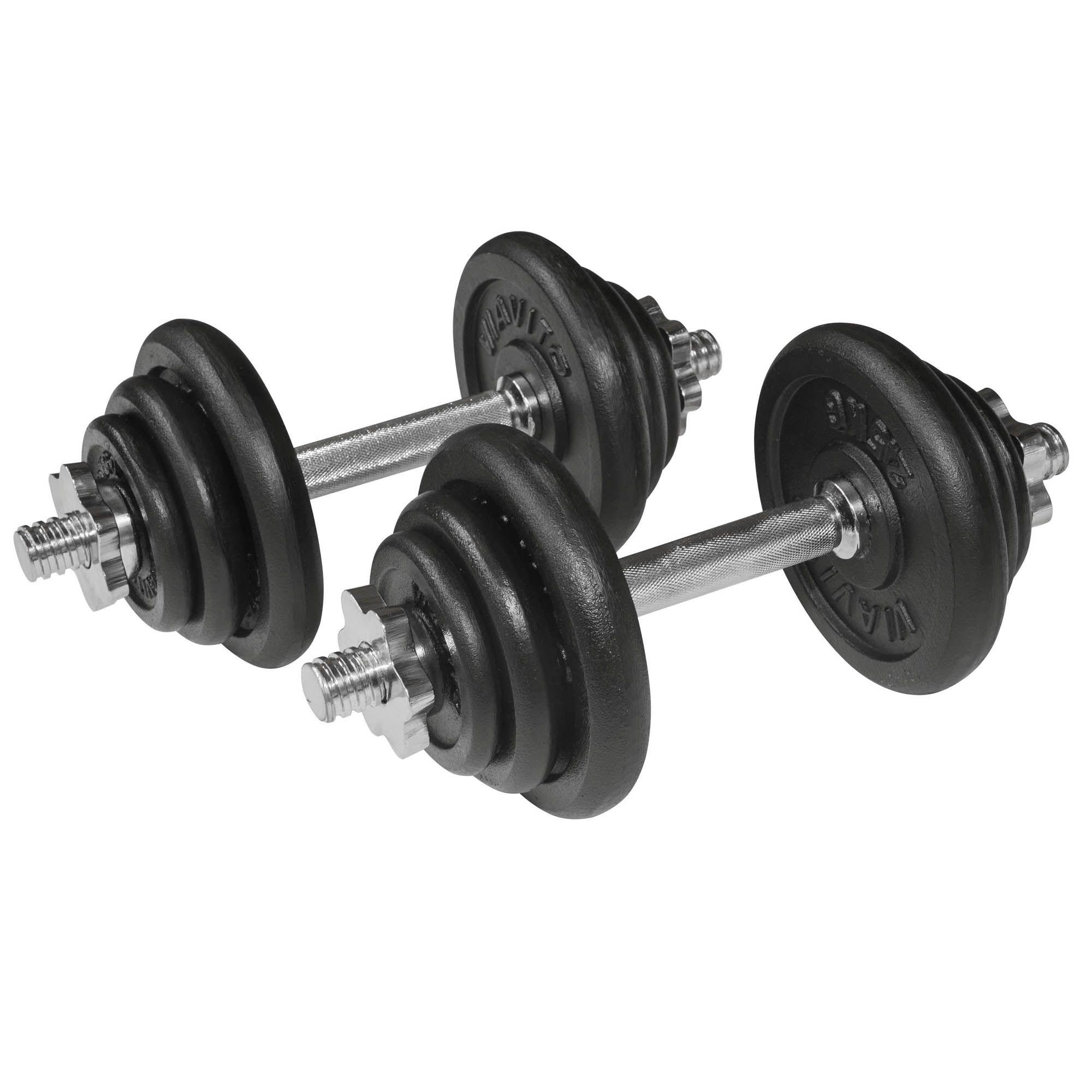 Dumbbell Set Mr Price Sport: Viavito 20kg Black Cast Iron Dumbbell Set