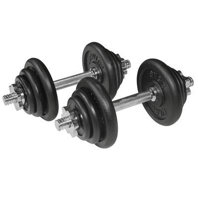 Viavito 20kg Black Cast Iron Dumbbell Set - Alternative View
