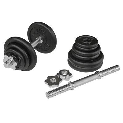 Viavito 20kg Black Cast Iron Dumbbell Set - Parts