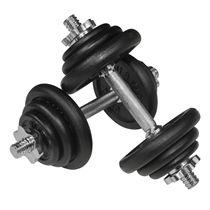 Viavito 20kg Black Cast Iron Dumbbell Set