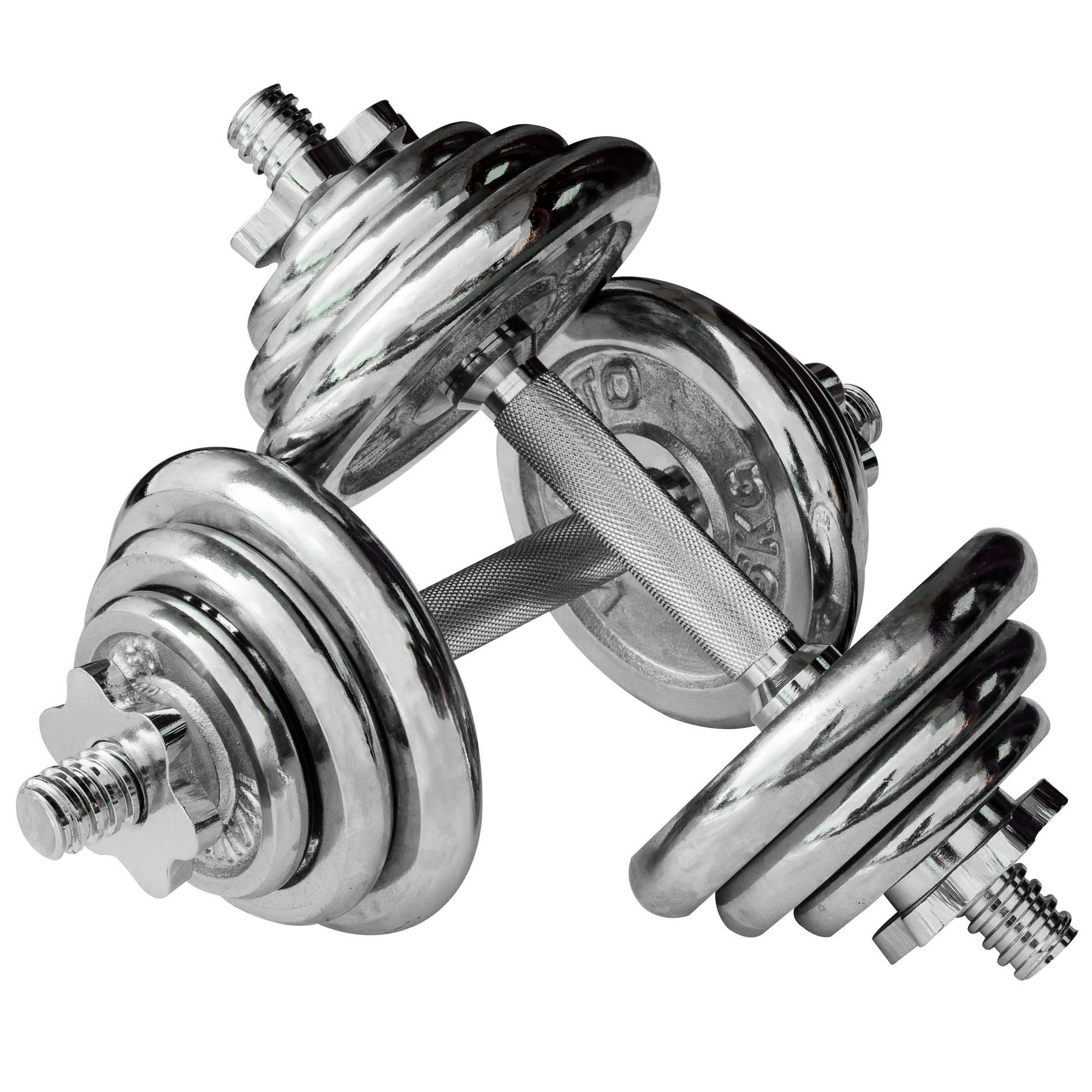Buy Cheap Chrome Dumbbell Set