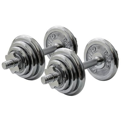 Viavito 20kg Chrome Dumbbell Set - Alternative View