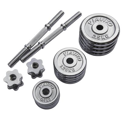 Viavito 20kg Chrome Dumbbell Set - Parts