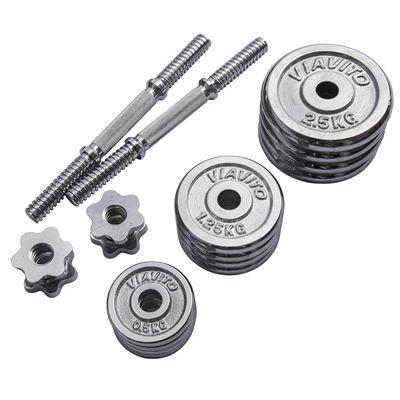 Viavito 20kg Chrome Dumbbell Set - Parts