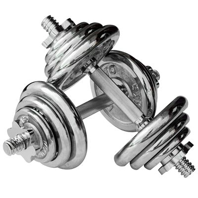 Viavito 20kg Chrome Dumbbell Set