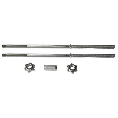 Viavito 50kg Black Cast Iron Barbell and Dumbbell Set - Bars and Collars