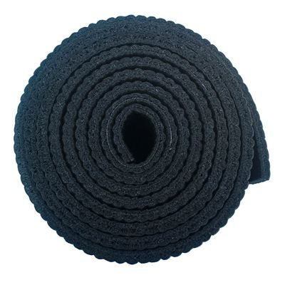 Viavito 6mm Yoga Mat with Carry Strap - Black - Side