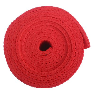 Viavito 6mm Yoga Mat with Carry Strap - Red - Side