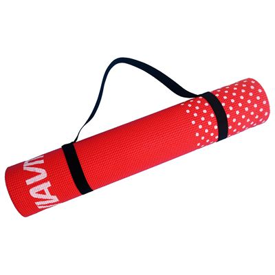 Viavito 6mm Yoga Mat with Carry Strap - Red - Strap