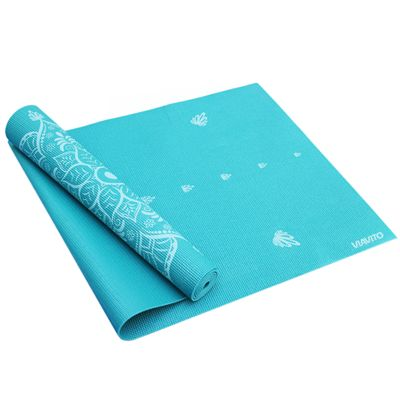 Viavito Asuryama 4mm Yoga Mat - Azure - HalfFolded