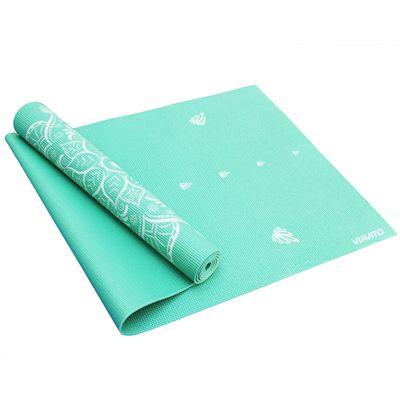 Viavito Asuryama 4mm Yoga Mat - Mint - HalfFolded