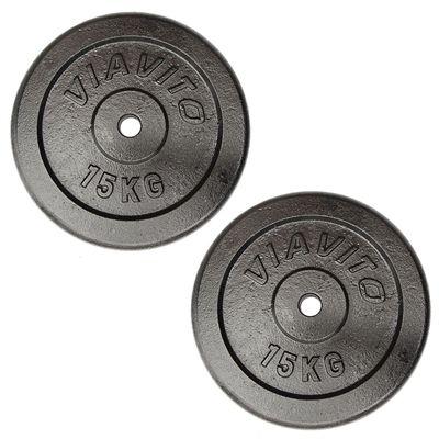 Viavito Cast Iron Standard Weight Plates 2x15kg