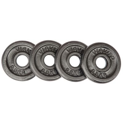 Viavito Cast Iron Standard Weight Plates 4x0.5