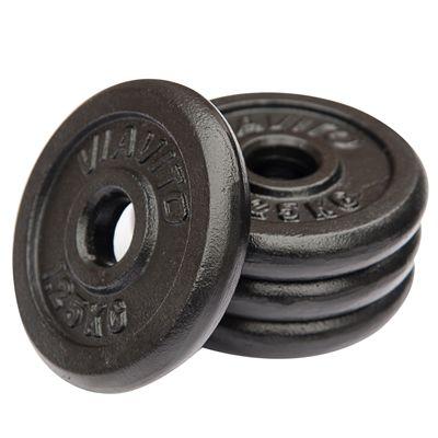 Viavito Cast Iron Standard Weight Plates 4x1.25 - Side