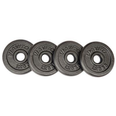 Viavito Cast Iron Standard Weight Plates 4x1.25