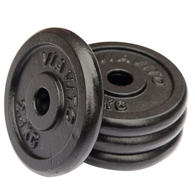 Viavito Cast Iron Standard Weight Plates 4x2.5 - Side