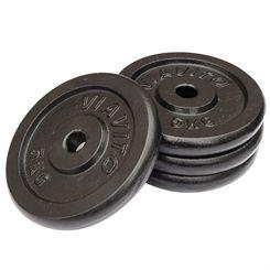Viavito Cast Iron Standard Weight Plates - 4 x 5kg