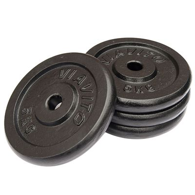 Viavito Cast Iron Standard Weight Plates 4x5 - Side