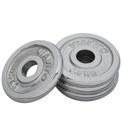 Viavito Chrome Standard Weight Plates 4x 0.5kg