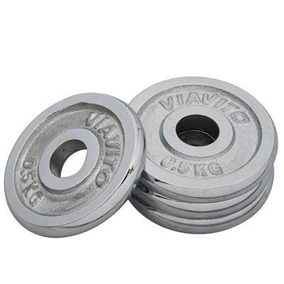 Viavito Chrome Standard Weight Plates 4x 0.5kg
