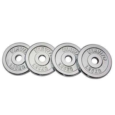 Viavito Chrome Standard Weight Plates 4x 1.25kg