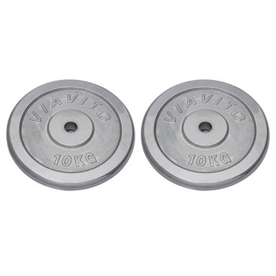 Viavito Chrome Standard Weight Plates 4x 10kg