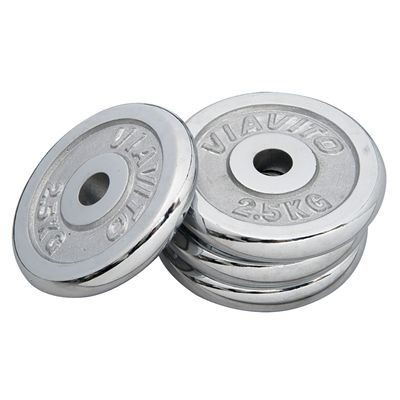 Viavito Chrome Standard Weight Plates 4x 2.5kg