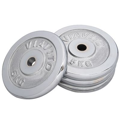 Viavito Chrome Standard Weight Plates 4x 5kg