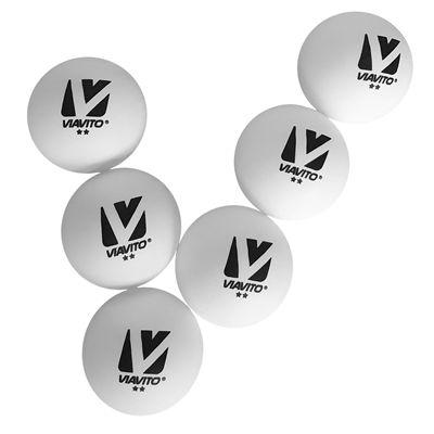 Viavito Club Adept 2 Star Table Tennis Balls - Pack of 6 - New - Balls V