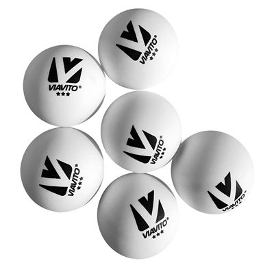Viavito Compete Pro 3 Star Table Tennis Balls - Pack of 6 - New - Ballz2