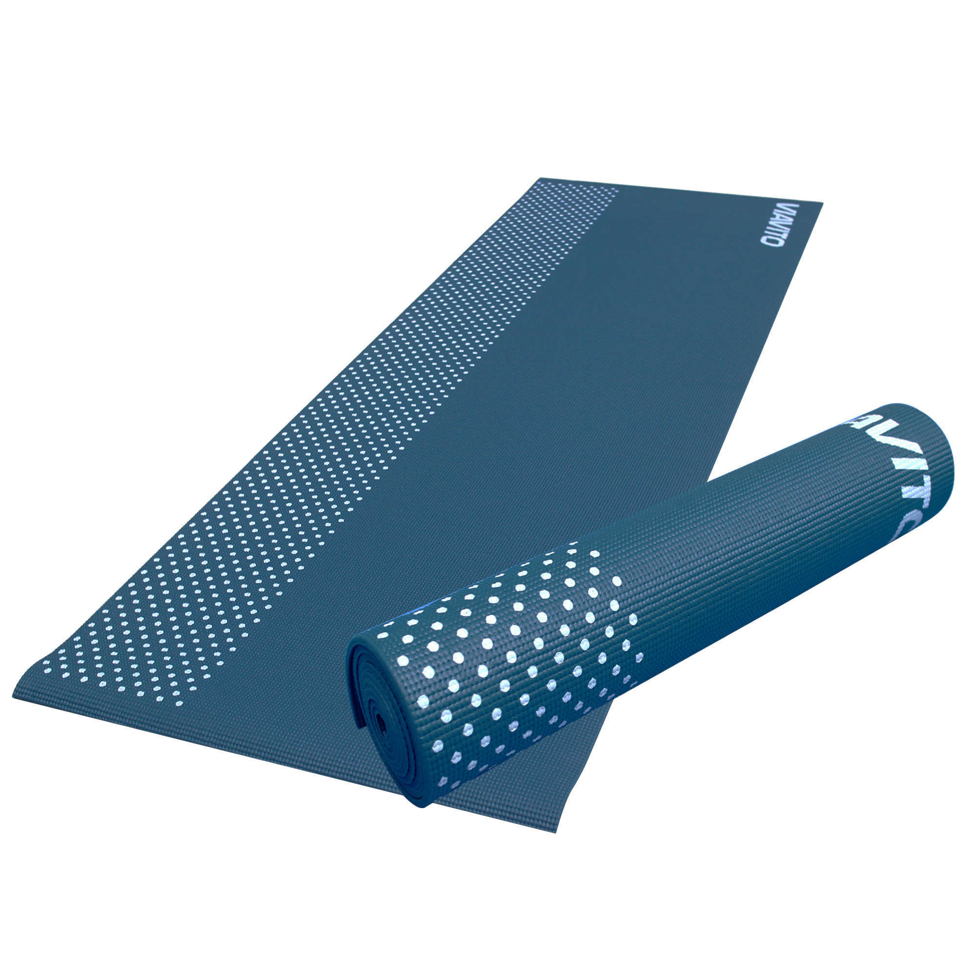 Viavito Leviato 6mm Yoga Mat with Carry Strap - Distant Blue