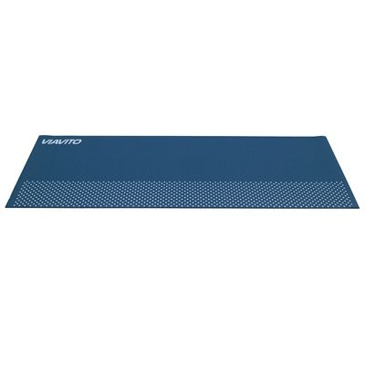 Viavito Leviato 6mm Yoga Mat with Carry Strap - Distant Blue - Flat