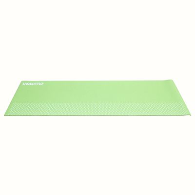 Viavito Leviato 6mm Yoga Mat with Carry Strap - Distant Blue - Lime - Flat