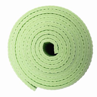 Viavito Leviato 6mm Yoga Mat with Carry Strap - Distant Blue - Lime - Side