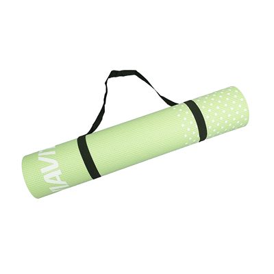Viavito Leviato 6mm Yoga Mat with Carry Strap - Distant Blue - Lime - Strap