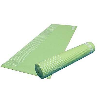 Viavito Leviato 6mm Yoga Mat with Carry Strap - Distant Blue - Lime