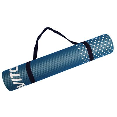 Viavito Leviato 6mm Yoga Mat with Carry Strap - Distant Blue - Strap
